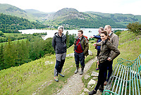 Prince William Duke of Cambridge and Kate Duchess of Cambridge Katherine Catherine Middleton stop to admire the view at Deepdale Hall Farm, a traditional fell sheep farm, in Patterdale, during a visit to Cumbria. Photo Credit: ALPR/AdMedia