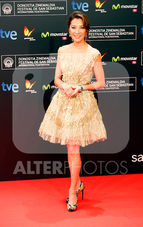 Michelle Yeoh posses in the photocall of the 61 San Sebastian Film Festival, in San Sebastian, Spain. September 20, 2013. (ALTERPHOTOS/Victor Blanco)