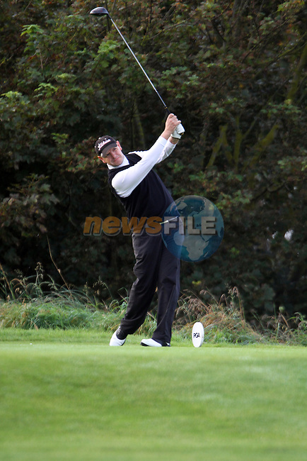 Day one of the Irish PGA championship at Seapoint Golf Club, David Carroll from Seapoint Golf Club on the 1st tee...Picture Jenny Matthews/Newsfile.ie