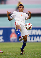Kianz Froese (7) takes a touch on the ball during the group stage of the CONCACAF Men's Under 17 Championship at Jarrett Park in Montego Bay, Jamaica. Panama tied Cuba, 0-0.