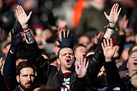 29th February 2020; London Stadium, London, England; English Premier League Football, West Ham United versus Southampton; West Ham United fans singing before kick off