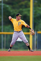Pittsburgh Pirates Erik Lunde (95) during an instructional league intrasquad black and gold game on September 18, 2015 at Pirate City in Bradenton, Florida.  (Mike Janes/Four Seam Images)