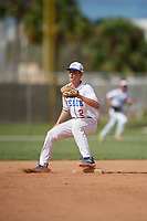 Ben Greenspon during the WWBA World Championship at the Roger Dean Complex on October 20, 2018 in Jupiter, Florida.  Ben Greenspon is a shortstop from New York, New York who attends Collegiate High School and is committed to William & Mary.  (Mike Janes/Four Seam Images)