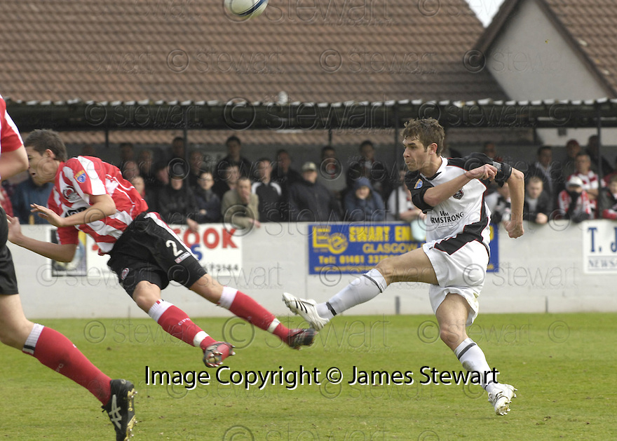 21/04/2007       Copyright Pic: James Stewart.File Name : sct_jspa20_gretna_v_clyde.ROBERT HARRIS BLOCKS DAVID GRAHAM'S SHOT....James Stewart Photo Agency 19 Carronlea Drive, Falkirk. FK2 8DN      Vat Reg No. 607 6932 25.Office     : +44 (0)1324 570906     .Mobile   : +44 (0)7721 416997.Fax         : +44 (0)1324 570906.E-mail  :  jim@jspa.co.uk.If you require further information then contact Jim Stewart on any of the numbers above.........
