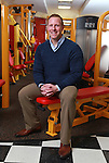 Eric Casaburi, CEO of Retro Fitness in his home gym in Colts Neck, NJ. Photo By William Denver.