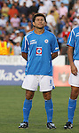 Cruz Azul's Miguel Sabah (MEX). The United Soccer League Division 1 Carolina Railhawks played Club Deportivo Cruz Azul of La Primera Division del Futbol Mexicano on Wednesday, July 25, 2007 in an international club friendly game at SAS Stadium in Cary, North Carolina/