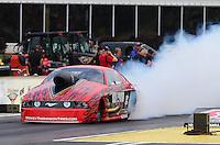 May 15, 2015; Commerce, GA, USA; NHRA pro mod driver Billy Glidden during qualifying for the Southern Nationals at Atlanta Dragway. Mandatory Credit: Mark J. Rebilas-USA TODAY Sports