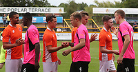 Players meet before kick off<br /> <br /> Photographer Rachel Holborn/CameraSport<br /> <br /> Pre-Season Friendly - Southport v Blackpool - Saturday 15th July 2017 - Merseyrail Community Stadium - Southport<br /> <br /> World Copyright &copy; 2017 CameraSport. All rights reserved. 43 Linden Ave. Countesthorpe. Leicester. England. LE8 5PG - Tel: +44 (0) 116 277 4147 - admin@camerasport.com - www.camerasport.com