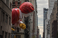NEW YORK, NY - NOVEMBER 24: The Ronald McDonald balloon floats between the buildings at the 90th annual Macy's Thanksgiving Day Parade in Six Avenue, on November 24, 2016 in New York City.  Photo by VIEWpress/Maite H. Mateo.