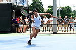 WINSTON SALEM, NC - MAY 22: Astra Sharma of Vanderbilt Commodores attacks the net against the Stanford Cardinal during the Division I Women's Tennis Championship held at the Wake Forest Tennis Center on the Wake Forest University campus on May 22, 2018 in Winston Salem, North Carolina. Stanford defeated Vanderbilt 4-3 for the national title. (Photo by Jamie Schwaberow/NCAA Photos via Getty Images)