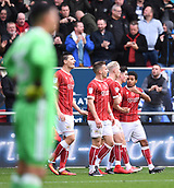 4th November 2017, Ashton Gate, Bristol, England; EFL Championship football, Bristol City versus Cardiff City; Callum O'Dowda celebrates with Bristol City players on scoring their first goal