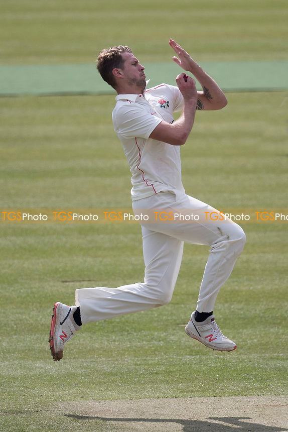 Tom Bailey of Lancashire CCC took the final wicket to fall to finish with five for the innings during Middlesex CCC vs Lancashire CCC, Specsavers County Championship Division 2 Cricket at Lord's Cricket Ground on 12th April 2019