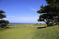 View of the 10th green at Monterey Peninsula CC during Saturday's Round 3 of the 2018 AT&amp;T Pebble Beach Pro-Am, held over 3 courses Pebble Beach, Spyglass Hill and Monterey, California, USA. 10th February 2018.<br /> Picture: Eoin Clarke | Golffile<br /> <br /> <br /> All photos usage must carry mandatory copyright credit (&copy; Golffile | Eoin Clarke)