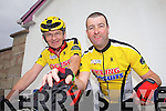 Jim Mackessy from Knockaderry and local man Seamus Sexton get ready for the  charity cycle in Athea last Monday in aid of the Brothers of Charity Listowel and Newcastle West..