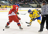 Andrej Nestrasil (Czech Republic - 27), Calle Järnkrok (Sweden - 25) - Sweden defeated the Czech Republic 4-2 at the Urban Plains Center in Fargo, North Dakota, on Saturday, April 18, 2009, in their final match of the 2009 World Under 18 Championship.