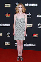 UNIVERSAL CITY, CA, USA - OCTOBER 02: Kasha Kropinski arrives at the Los Angeles Premiere Of AMC's 'The Walking Dead' Season 5 held at AMC Universal City Walk on October 2, 2014 in Universal City, California, United States. (Photo by David Acosta/Celebrity Monitor)