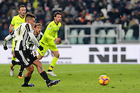 Calcio, Serie A: Juventus vs Bologna. Torino, Juventus Stadium, 8 gennaio 2017.<br /> Juventus' Paulo Dybala scores on a penalty kick during the Italian Serie A football match between Juventus and Bologna at Turin's Juventus Stadium, 8 January 2017. Juventus won 3-0.<br /> UPDATE IMAGES PRESS/Manuela Viganti