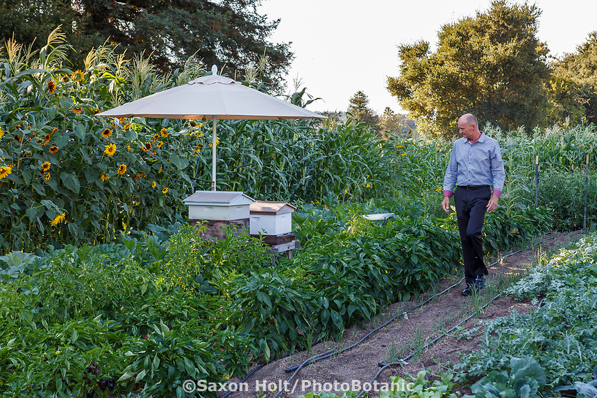 Tony Fisher, director of Community Garden project at Healdsburg Senior Living Center