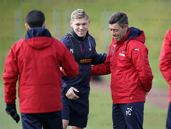 Martyn Waghorn and Pedro Caixinha
