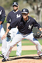 Yoshinori Tateyama (Yankees),<br /> FEBRUARY 18, 2014 - MLB : Pitcher Yoshinori Tateyama of the New York Yankees during team's spring training baseball camp at George M. Steinbrenner Field in Tampa, Florida, USA.<br /> (Photo by Thomas Anderson/AFLO) (JAPANESE NEWSPAPER OUT)