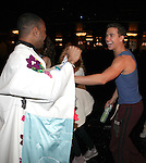 James Brown III & Richard Fleeshman.attending the Broadway Opening Nigh Gypsy Robe Ceremony for 'GHOST' honoring recepient James Brown III at the Lunt-Fontanne Theater on 4/23/2012 in New York City.