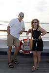 Guiding Light's Grant Aleksander and Liz Keifer on deck - Day 1 July 31, 2010 - So Long Springfield at Sea - A Final Farewell To Guiding Light sets sail from NYC to St. John, New Brunwsick and Halifax, Nova Scotia from July 31 to August 5, 2010  aboard Carnival's Glory (Photos by Sue Coflin/Max Photos)