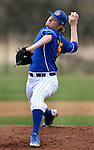 BROOKINGS, SD - MAY 4:  Ryan Froom #35 from South Dakota State delivers a pitch against Nebraska Omaha in the second inning Sunday afternoon at Erv Huether Field in Brookings. (Photo by Dave Eggen/Inertia)