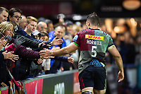 James Horwill of Harlequins high fives supporters after the match. Gallagher Premiership match, between Harlequins and Leicester Tigers on May 3, 2019 at the Twickenham Stoop in London, England. Photo by: Patrick Khachfe / JMP