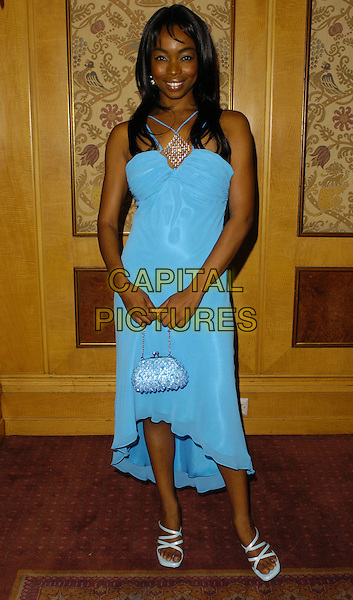 PHINA ORUCHE.Gift Of Life VII Charity Dinner, Royal Lancaster Hotel, London, England, September 16th 2006..full length blue dress.Ref: CAN.www.capitalpictures.com.sales@capitalpictures.com.©Can Nguyen/Capital Pictures