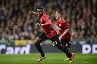 FUSSBALL  CHAMPIONS LEAGUE  ACHTELFINALE  HINSPIEL  2012/2013      Real Madrid - Manchester United FC         13.02.2013 JUBEL Daniel Welbeck (Manchester United FC) nach seinem Tor zum 0-1