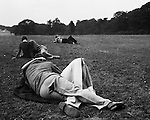 Lovers in the park, 1940s