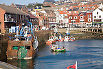 View of the harbour, Scarborough, Yorkshire, England