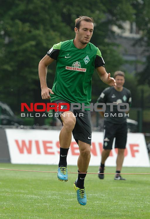 25.07.2013, Sportplatz, Blankenhain, GER, 1.FBL, Trainingslager Werder Bremen 2013, im Bild Luca Caldirola (Bremen #3)<br /> <br /> Foto &copy; nph / Frisch