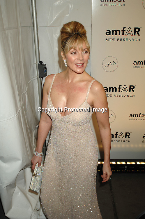 Kim Cattrall..arriving at The amFAR 2007 Gala at Ciprianis 42nd Street..on January 31, 2007. The Honorees were Sharon Stone, ..John Demsey and Bill Roedy..Robin Platzer, Twin Images