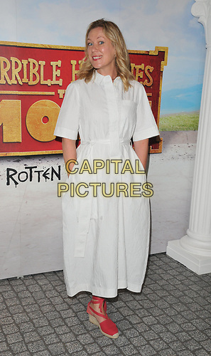 """Anna Crilly at the """"Horrible Histories: The Movie - Rotten Romans"""" world film premiere, Odeon Luxe Leicester Square, Leicester Square, London, England, UK, on Sunday 07th July 2019.<br /> CAP/CAN<br /> ©CAN/Capital Pictures"""