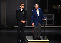 LOS ANGELES - SEPTEMBER 22: Ben Stiller and Bob Newhart onstage at the 71st Primetime Emmy Awards at the Microsoft Theatre on September 22, 2019 in Los Angeles, California. (Photo by Frank Micelotta/Fox/PictureGroup)