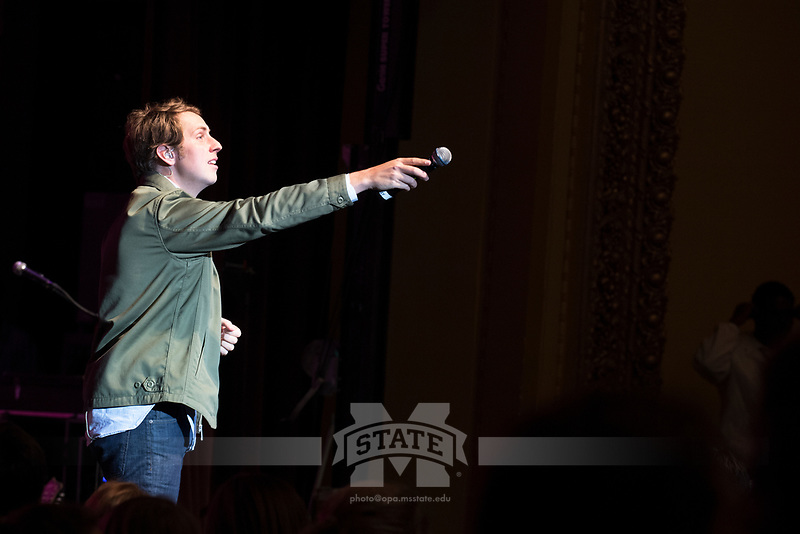 Ben Rector concert in Bettersworth Auditorium<br />  (photo by Beth Wynn / &copy; Mississippi State University)