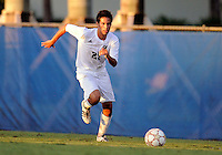 Florida International University men's soccer player Christopher Garces (21) plays against Florida Atlantic University on August 28, 2011 at Miami, Florida.  The game ended in a 1-1 overtime tie. .