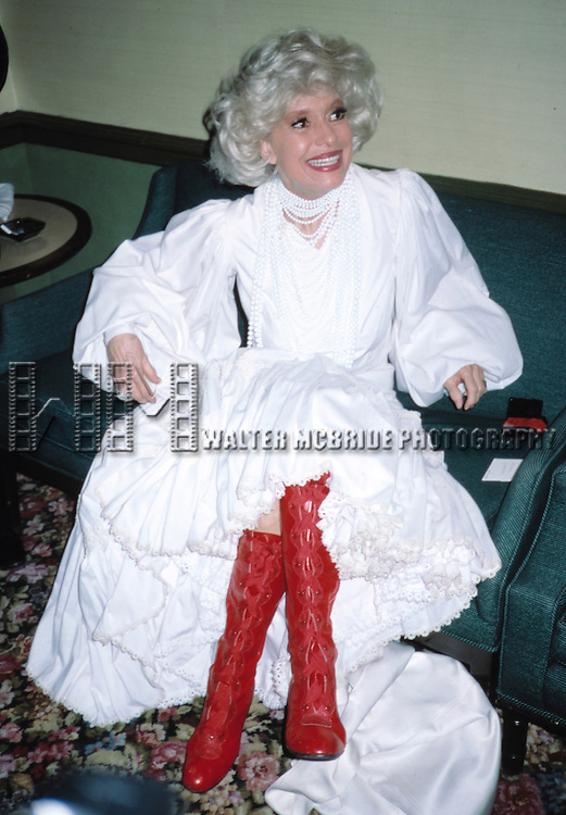 Carol Channing photographed in New York City, June 1988