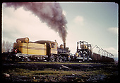 Rear 3/4 view of D&amp;RGW #268 with dismantling train.<br /> D&amp;RGW  Gunnison ?, CO