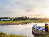 Sunset on the course during the final round at the KLM Open, The International, Amsterdam, Badhoevedorp, Netherlands. 15/09/19.<br /> Picture Stefano Di Maria / Golffile.ie<br /> <br /> All photo usage must carry mandatory copyright credit (© Golffile | Stefano Di Maria)