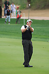 Phil Mickelson playing his second shot on the 8th on day two of the Abu Dhabi HSBC Golf Championship 2011, at the Abu Dhabi golf club, UAE. 21/1/11..Picture Fran Caffrey/www.golffile.ie.