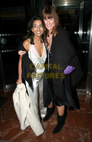 KONNIE HUQ & LIZ BARKER.Daily Mirror's Pride Of Britain Awards at the London Hilton, Park Lane.15 March 2004.full length, full-length, plunging neckline.www.capitalpictures.com.sales@capitalpictures.com.© Capital Pictures.