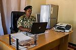 Park warden Miriam Namushi, Kafue National Park, Zambia