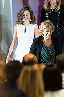 Queen Letizia of Spain and Madrid Mayor Manuela Carmena during the 25th edition of FEDEPE Awards at Jardines de Cecilio Rodriguez in Madrid, Spain. July 26, 2016. (ALTERPHOTOS/BorjaB.Hojas)