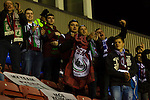 Wigan Athletic 1 Rubin Kazan 1, 24/10/2013. DW Stadium, Europa League Group D. Wigan Athletic embark on their first European campaign having won the FA Cup the previous season. The DW Stadium is temporarily known as The Wigan Athletic Stadium for Europa League fixtures. Rubin Kazan fans. Photo by Paul Thompson.