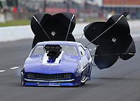 May 5, 2017; Commerce, GA, USA; NHRA pro mod driver Jim Whiteley during qualifying for the Southern Nationals at Atlanta Dragway. Mandatory Credit: Mark J. Rebilas-USA TODAY Sports
