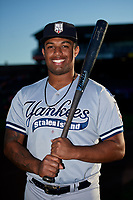 Staten Island Yankees Canaan Smith (11) poses for a photo before a game against the Aberdeen IronBirds on August 23, 2018 at Leidos Field at Ripken Stadium in Aberdeen, Maryland.  Aberdeen defeated Staten Island 6-2.  (Mike Janes/Four Seam Images)