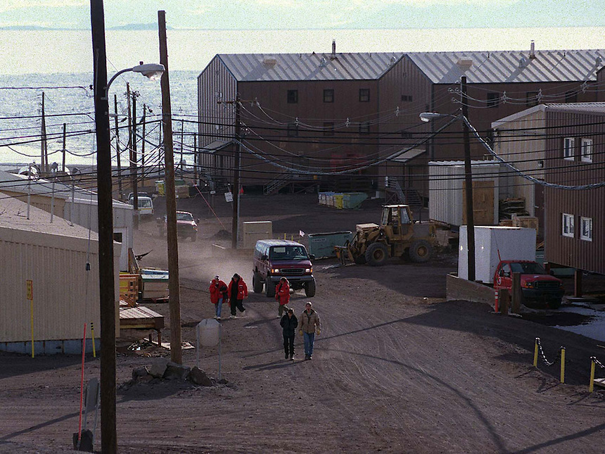 The dusty thoroughfare during the summer season at McMurdo Station, Antarctica. Ernie Mastroianni photo