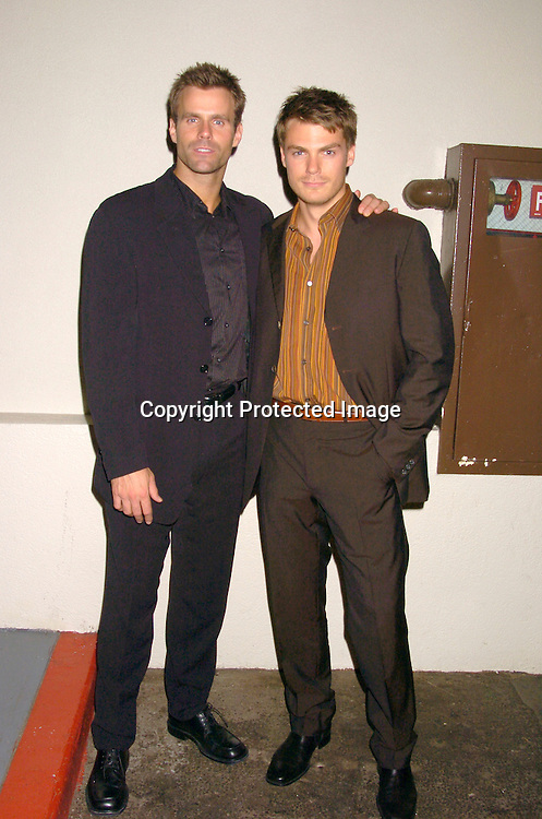 Cameron Mathison and Jeff Branson ..at ABC Casino Night on October 7, 2004 at The Lighthouse..at Chelsea Piers. ..Photo by Robin Platzer, Twin Images